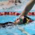 Keiko Inouye backstrokes to the finish line.