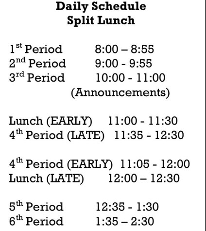 New Lunch Schedule: Love It or Hate It?