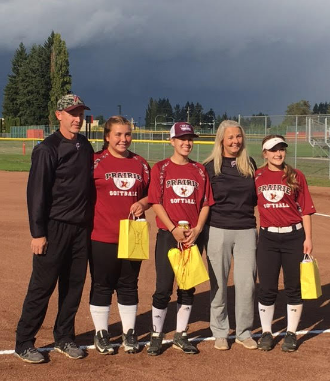Falcons Slowpitch Wins on Senior Night