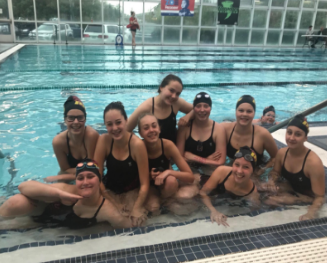 Girls Swim Secures Some Spots in The District Meet