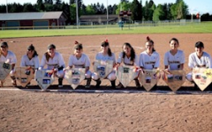 The Prairie Softball Team Plays in Their Senior Night Game