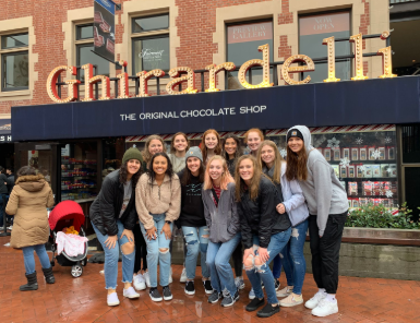 Girls team at Ghirardelli Chocolate Shop