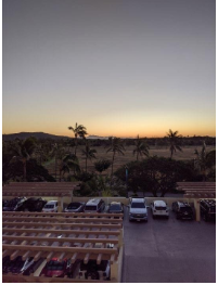 The sun rising over the hills of Oahu taken by a student, Ben Matson, sending warm sunny days back to Brush Prairie.