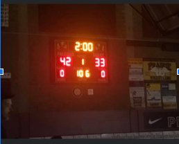 The final score at the nest on the memorable night of the 22nd of February 2020.